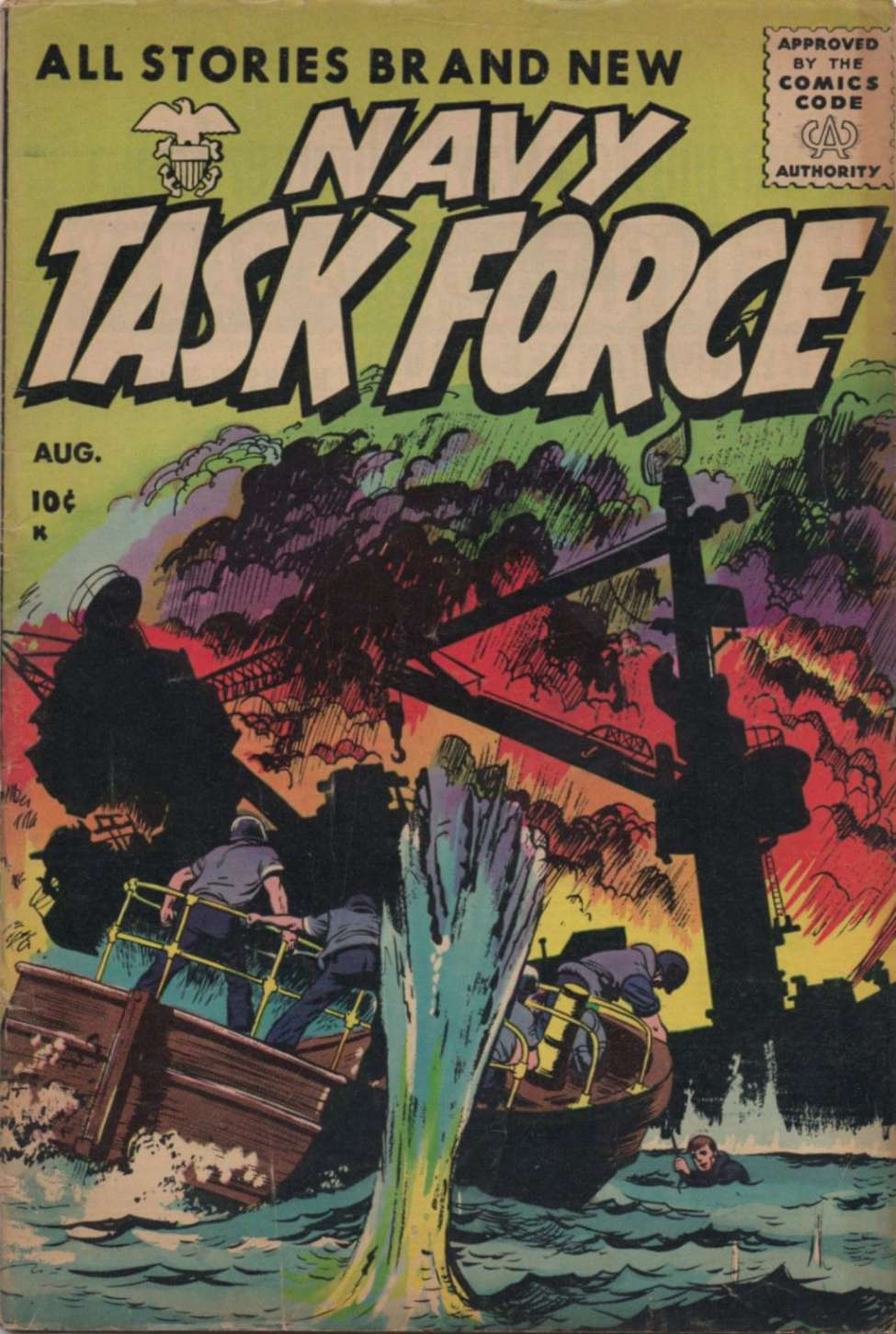 Comic Book Cover For Navy Task Force #5