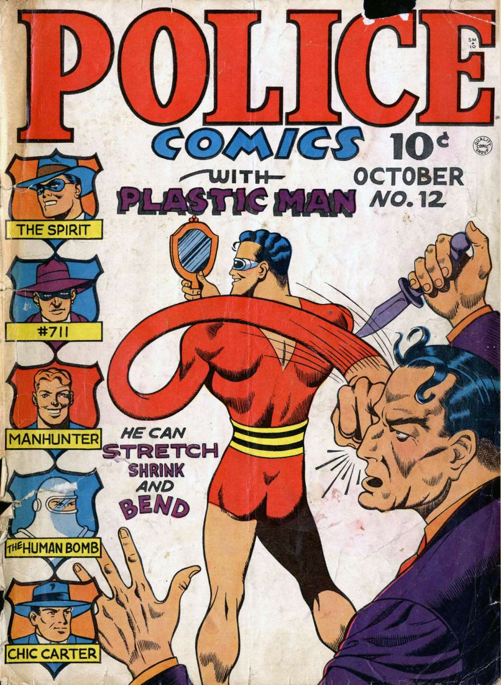 Comic Book Cover For Police Comics #12