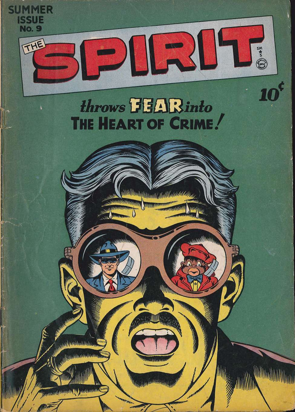 Comic Book Cover For The Spirit #9