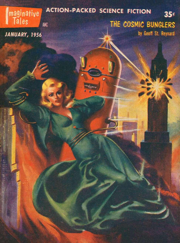 Comic Book Cover For Imaginative Tales v03 01 - The Cosmic Bunglers - Geoff St. Reynard