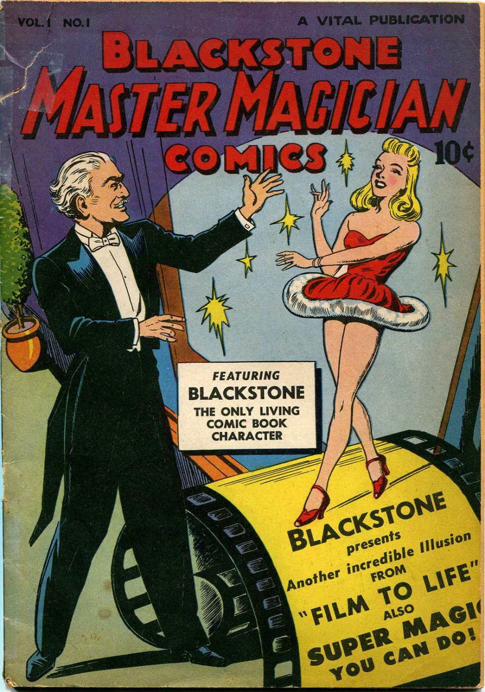 Comic Book Cover For Blackstone Master Magician Comics #1