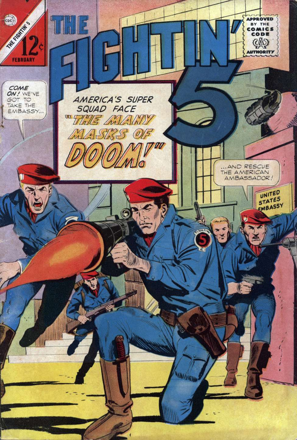 Comic Book Cover For Fightin' Five #31