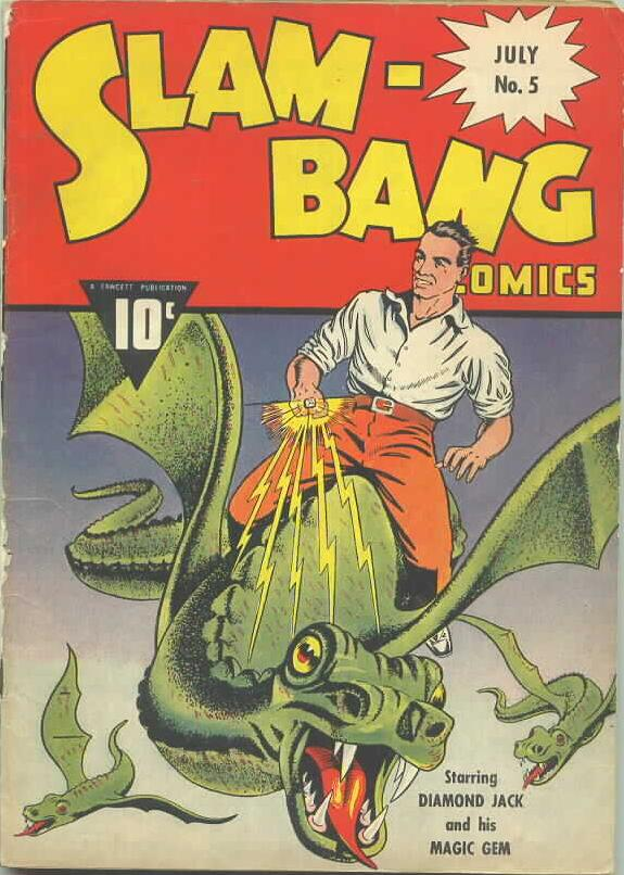 Comic Book Cover For Slam-Bang Comics #5