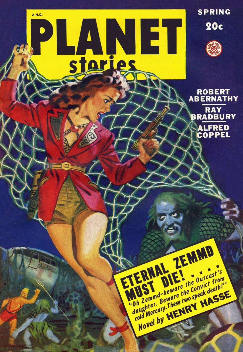 Comic Book Cover For Planet Stories v04 02 - Eternal Zemmd Must Die! - Henry Hasse