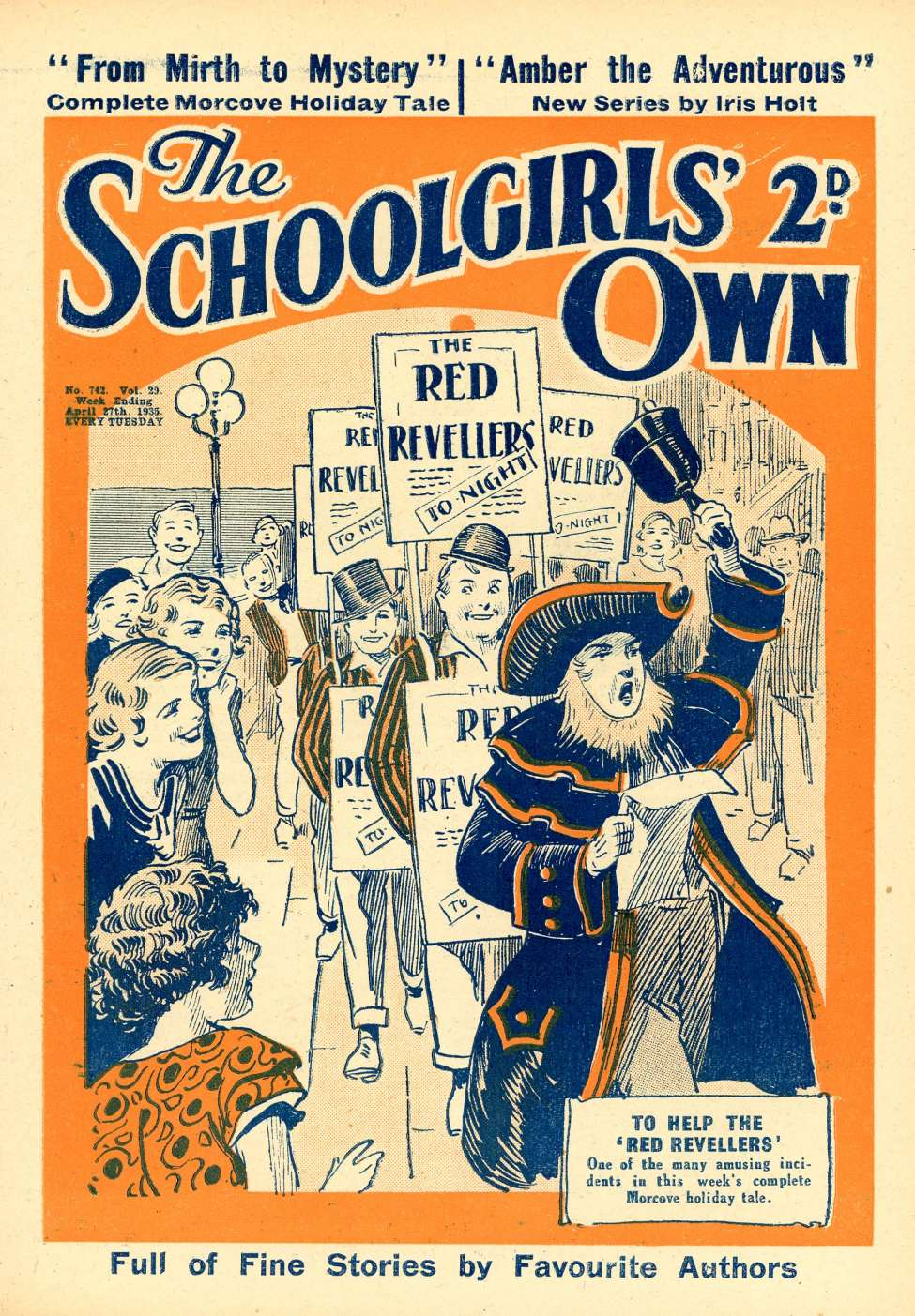 Comic Book Cover For The Schoolgirls' Own Library 742