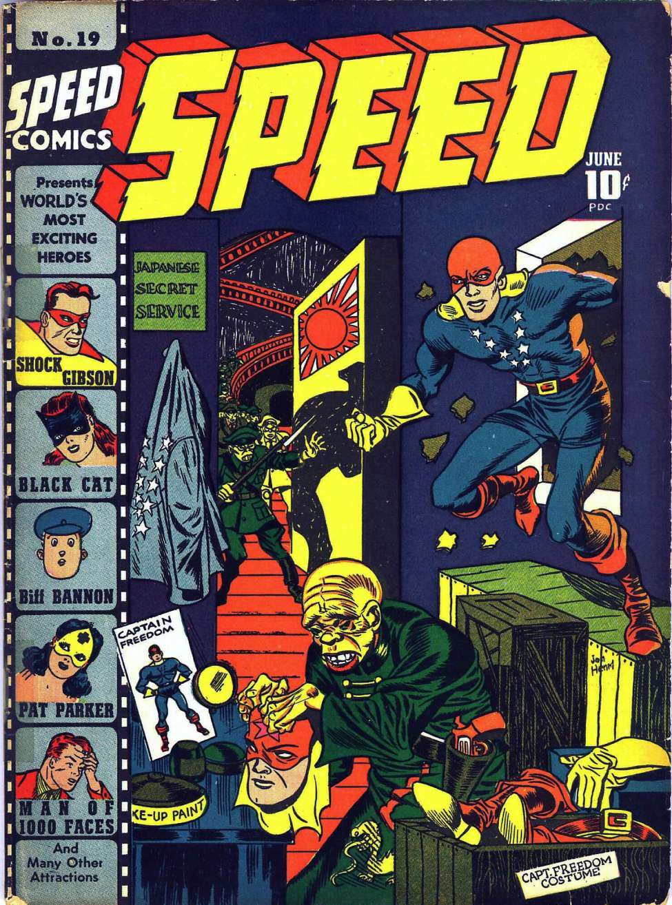 Comic Book Cover For Speed Comics #19