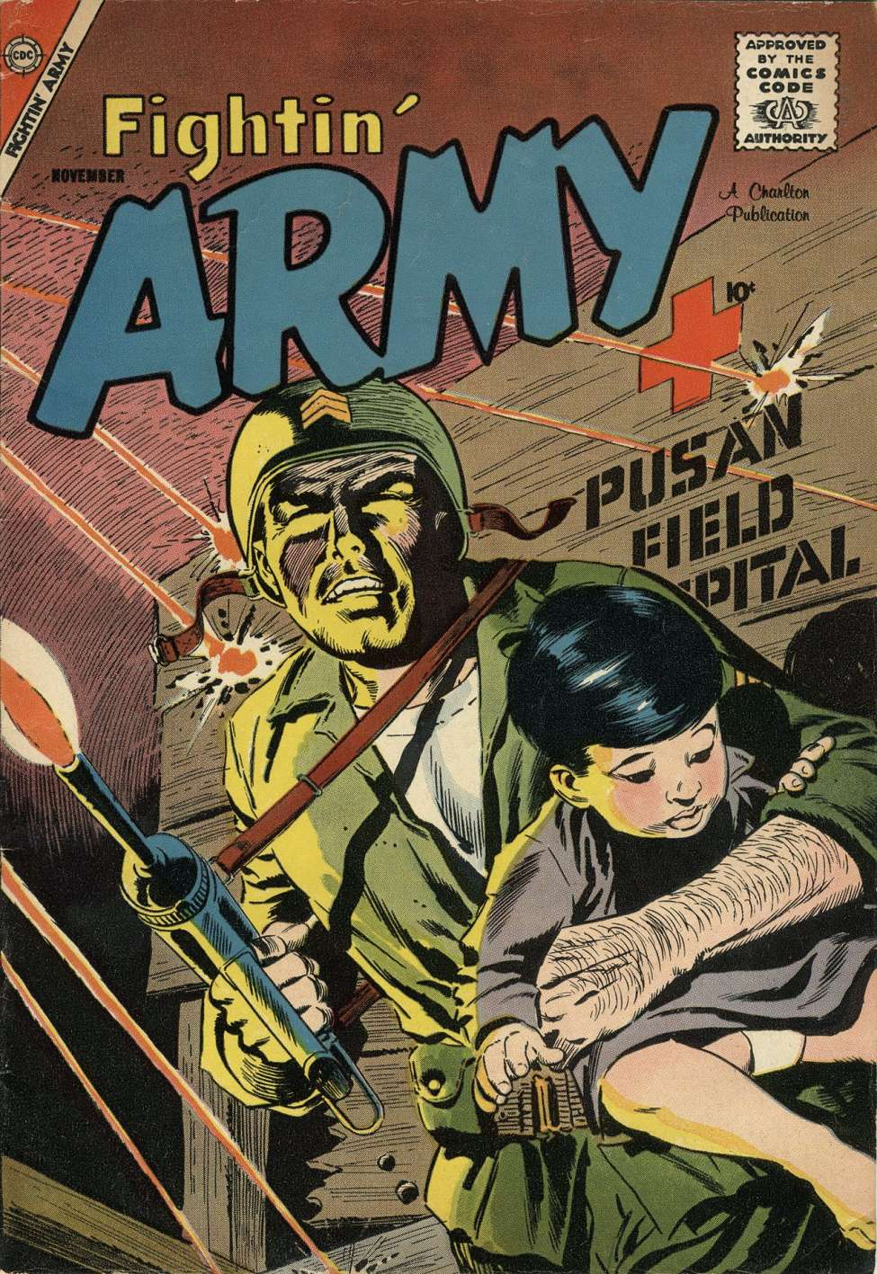 Comic Book Cover For Fightin' Army #27