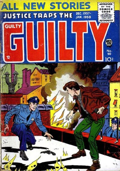 Comic Book Cover For Justice Traps the Guilty v10 6 (90) - Version 1