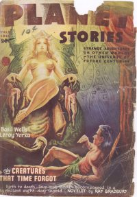 Large Thumbnail For Planet Stories v03 04 - The Creatures That Time Forgot - Ray Bradbury