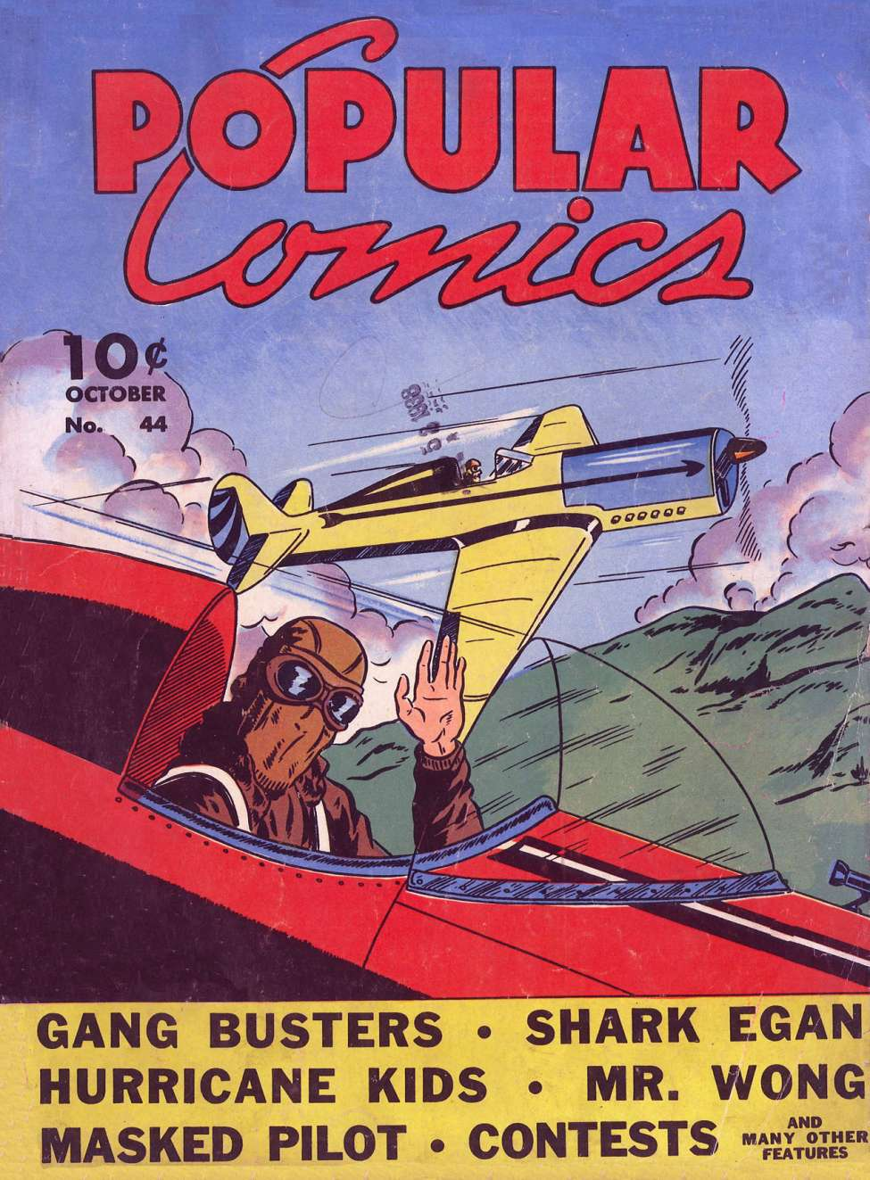 Comic Book Cover For Popular Comics #44