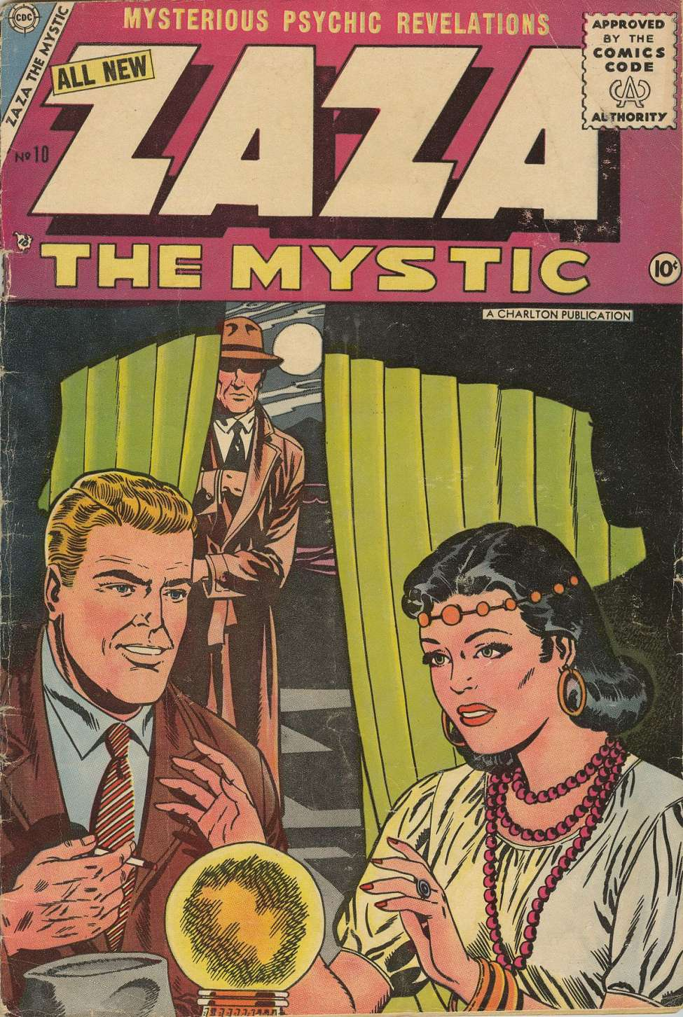 Comic Book Cover For Zaza the Mystic #10