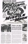 Cover For Missile To The Moon Pressbook