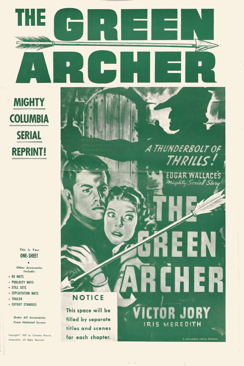 Comic Book Cover For Green Archer Serial Pressbook