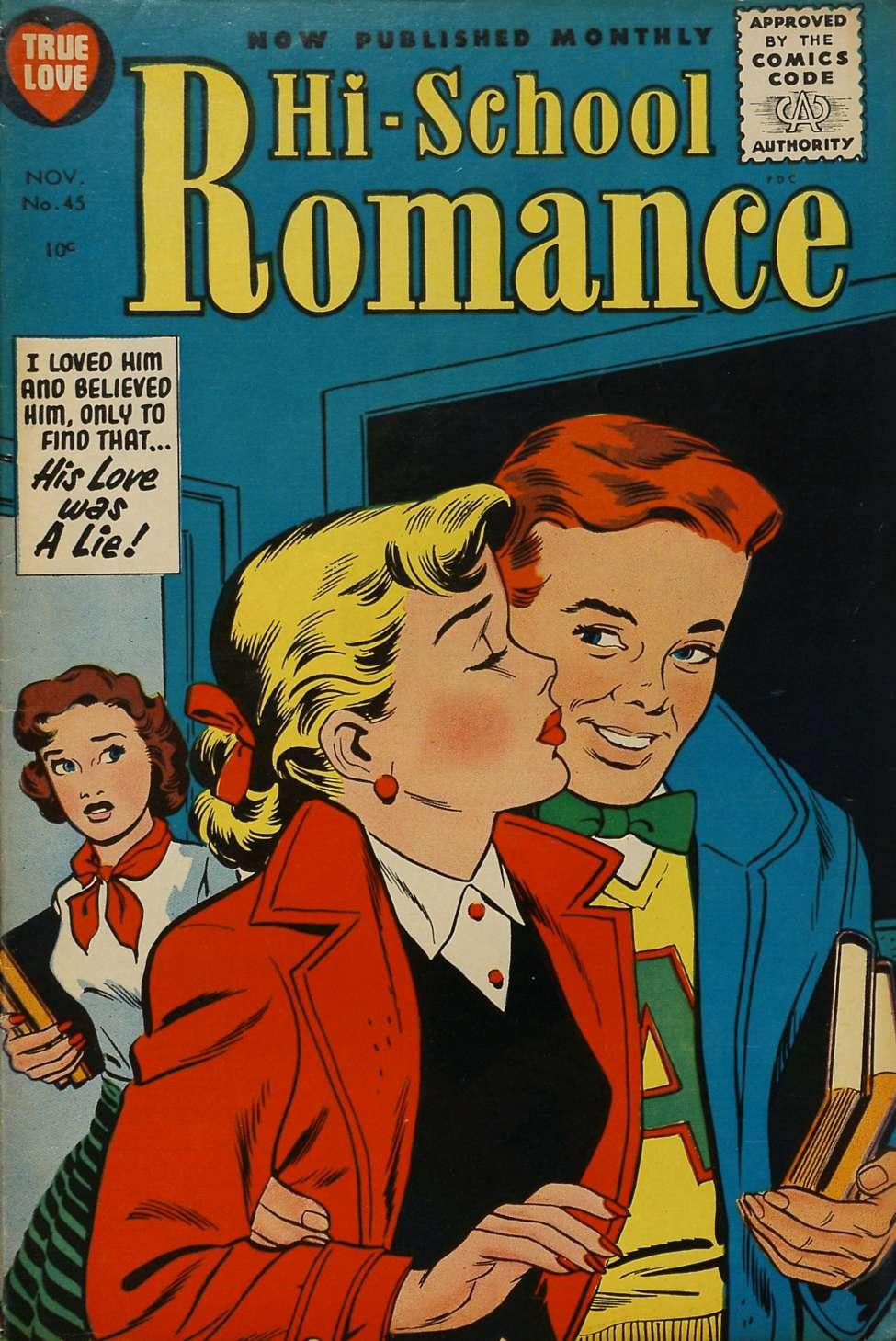 Comic Book Cover For Hi-School Romance #45