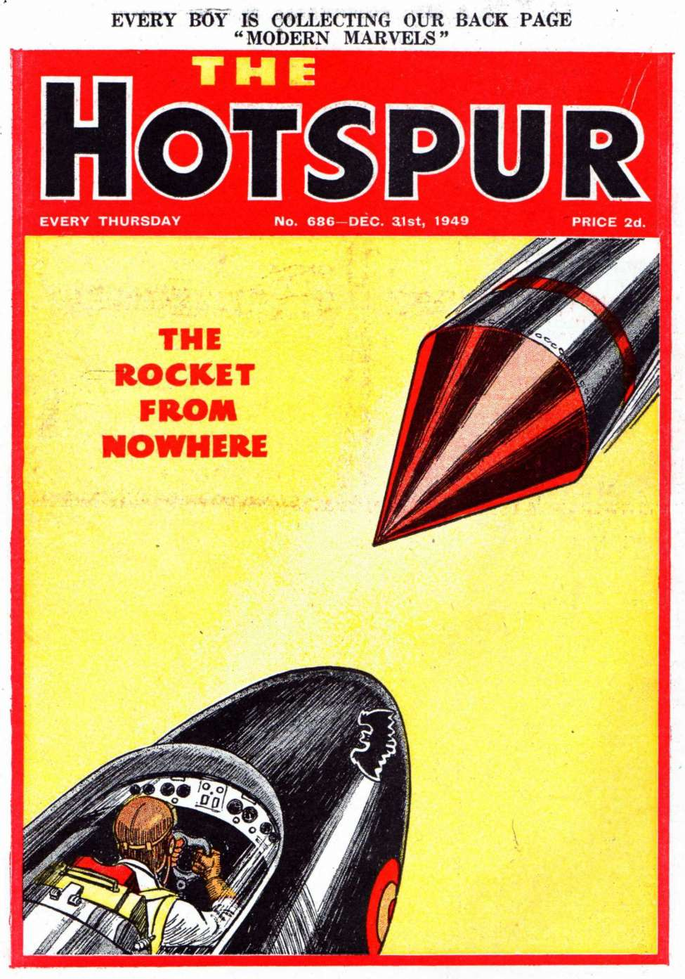 Comic Book Cover For The Hotspur 0686