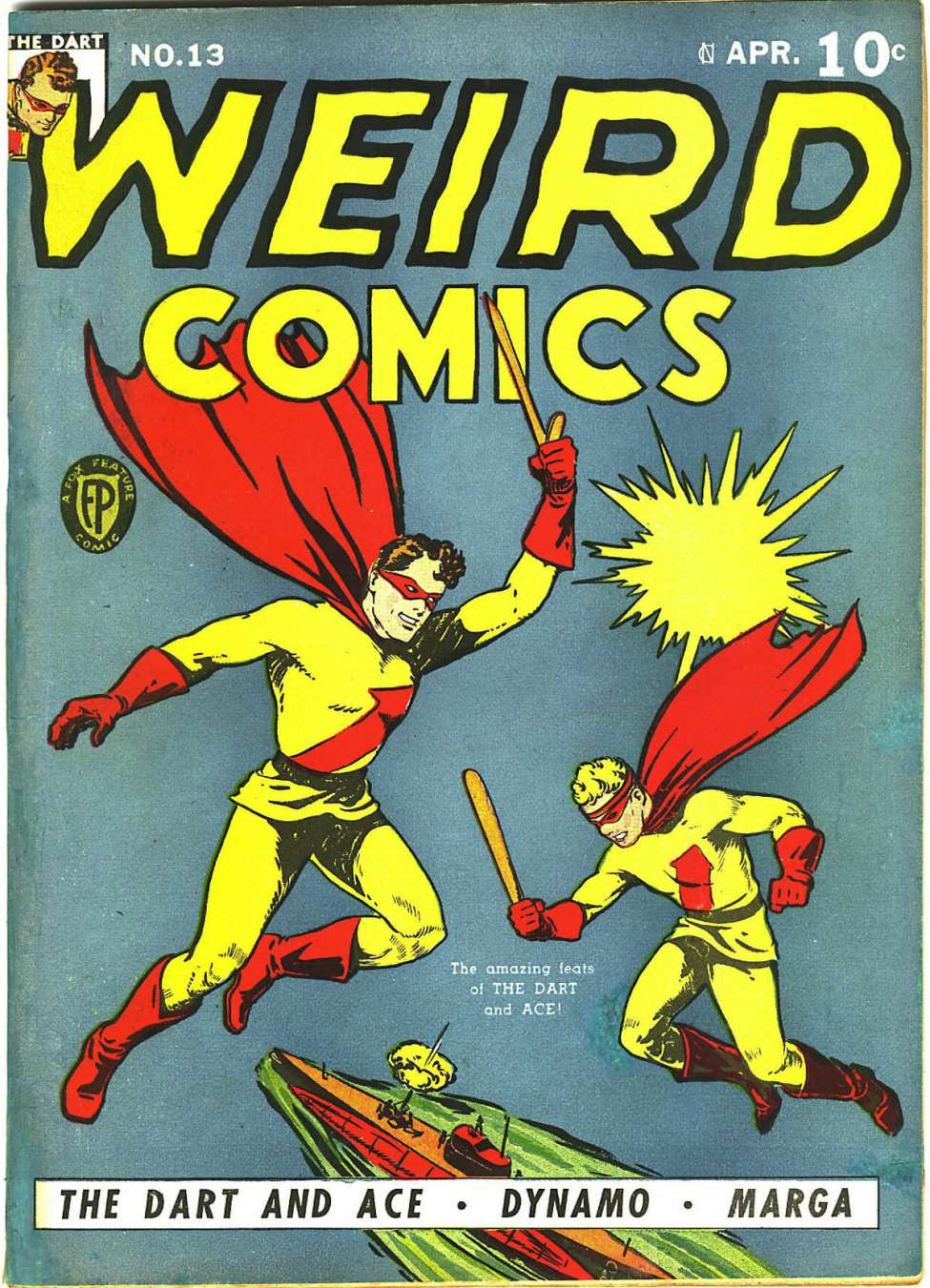 Comic Book Cover For Weird Comics #13