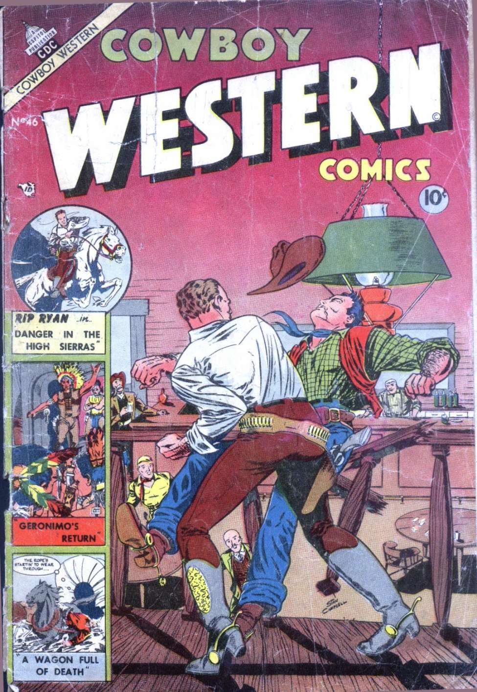 Comic Book Cover For Cowboy Western Comics #46