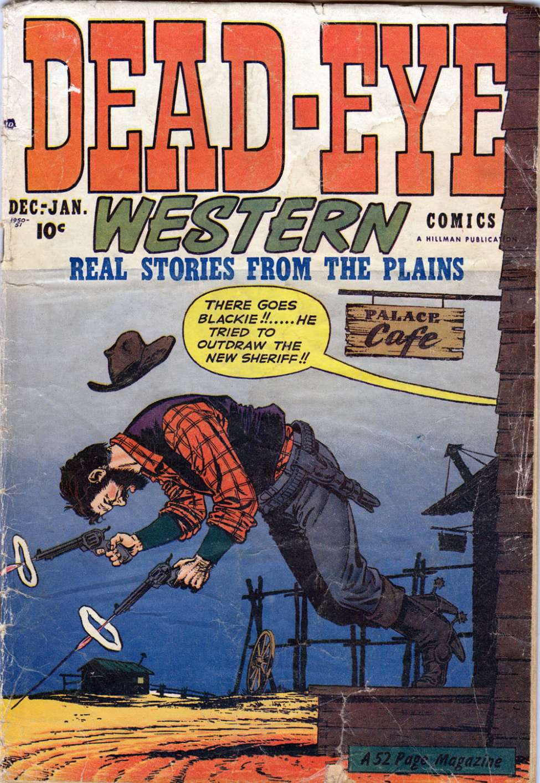 Comic Book Cover For Dead-Eye Western Comics v2 #1