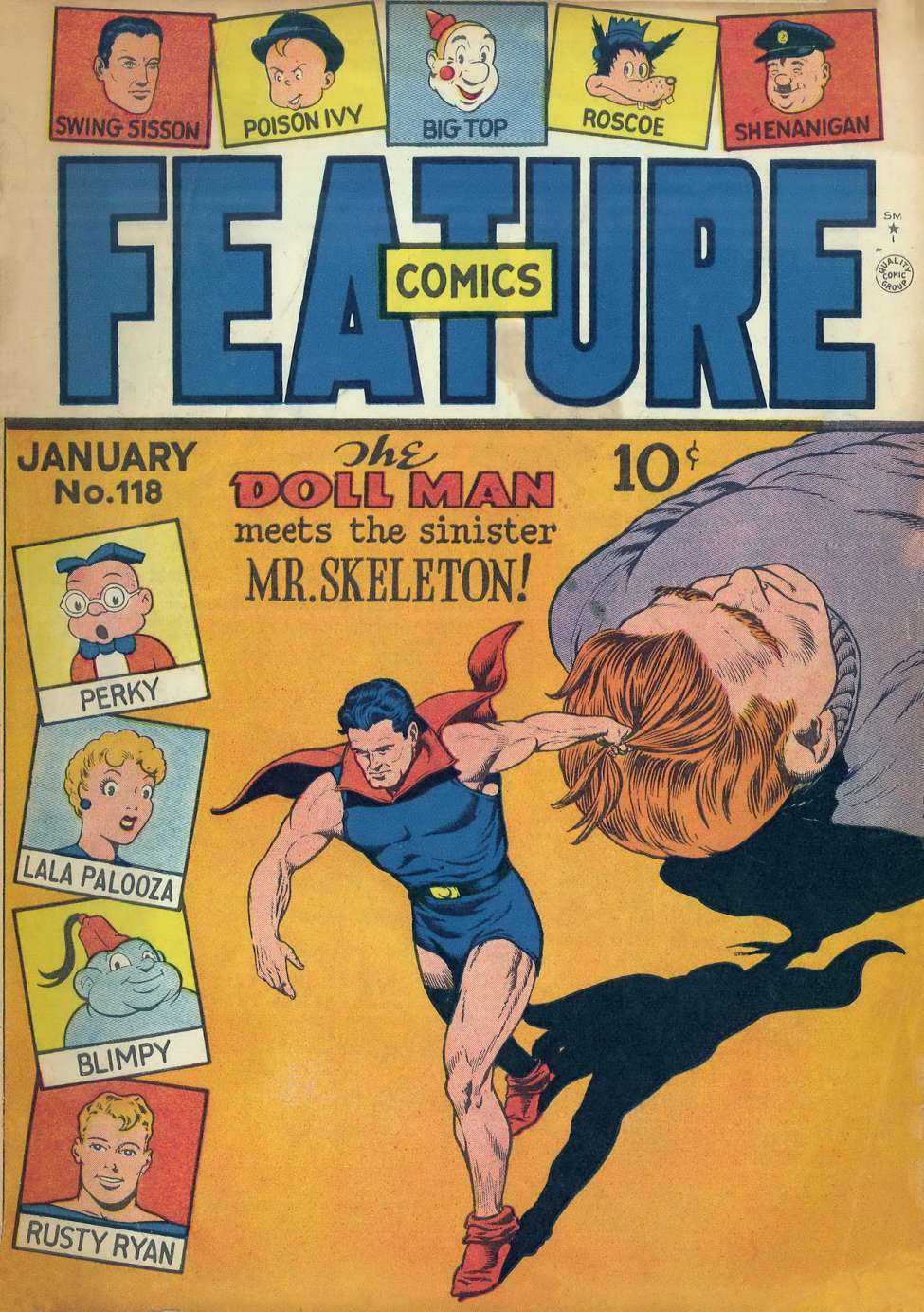 Comic Book Cover For Feature Comics #118