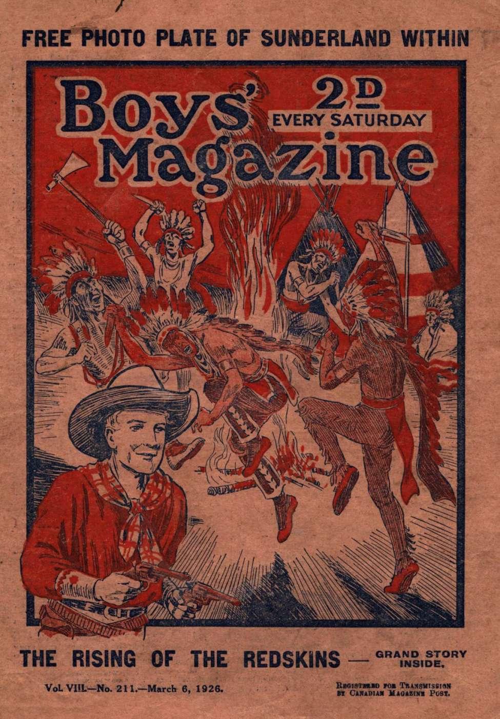 Comic Book Cover For Boys' Magazine 211