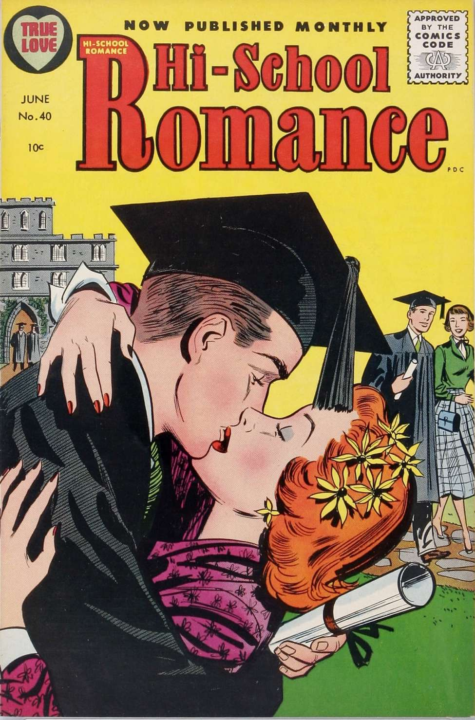 Comic Book Cover For Hi-School Romance #40
