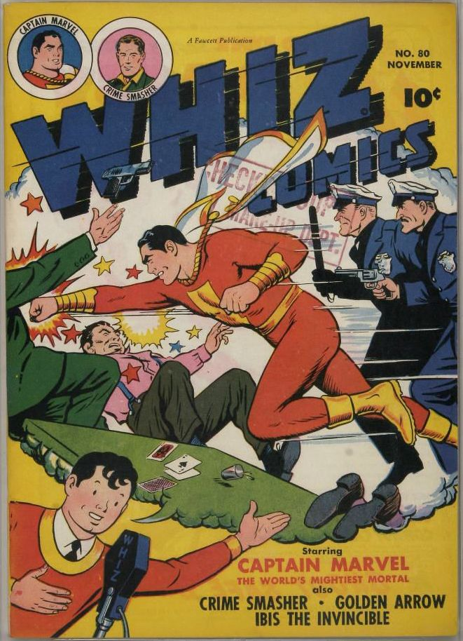 Comic Book Cover For Whiz Comics #80