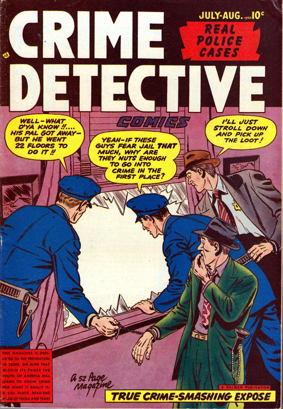 Comic Book Cover For Crime Detective Comics v2 #3