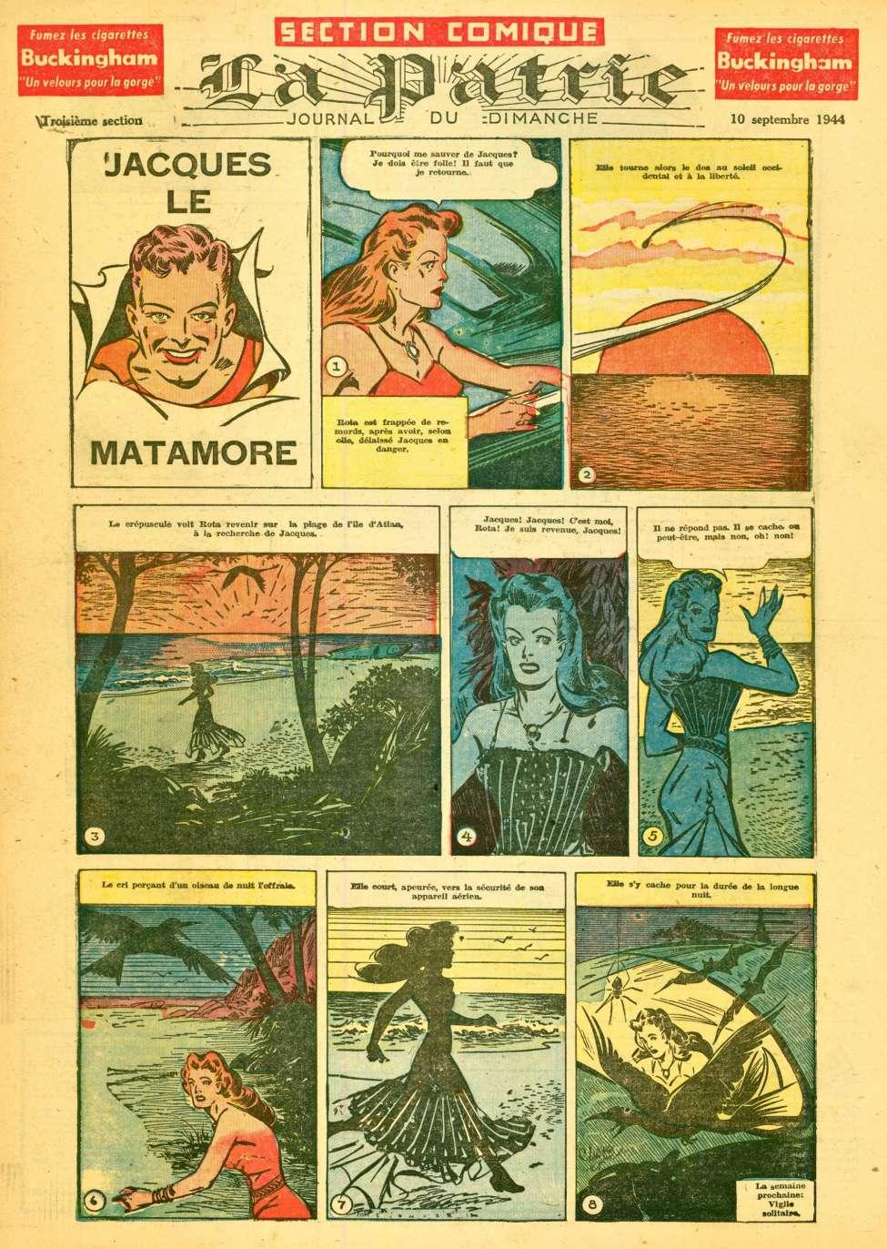 Comic Book Cover For La Patrie - Section Comique (1944-09-10)