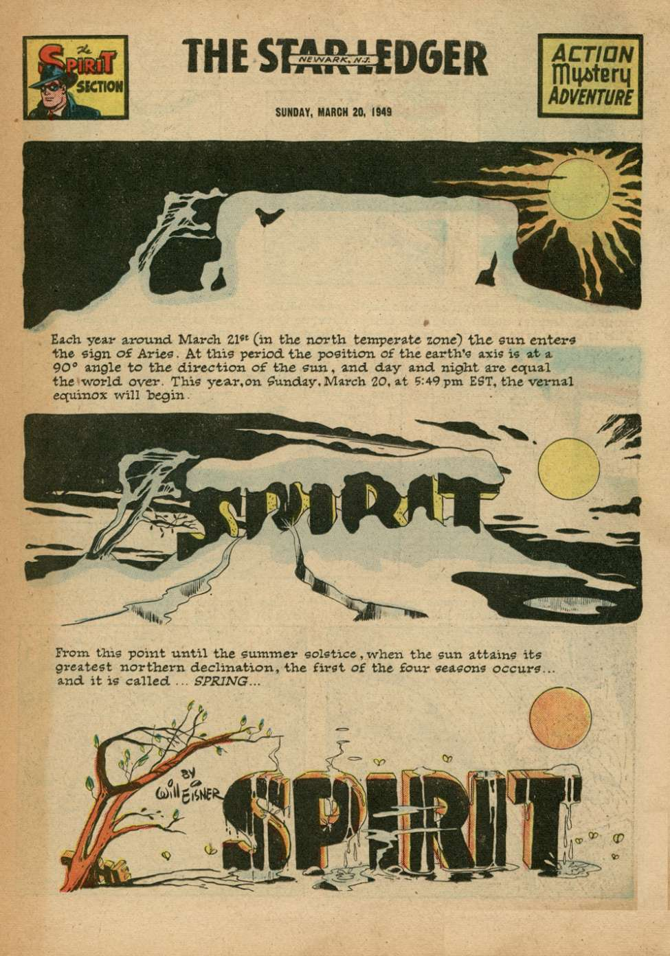 Comic Book Cover For The Spirit 3/20/1949