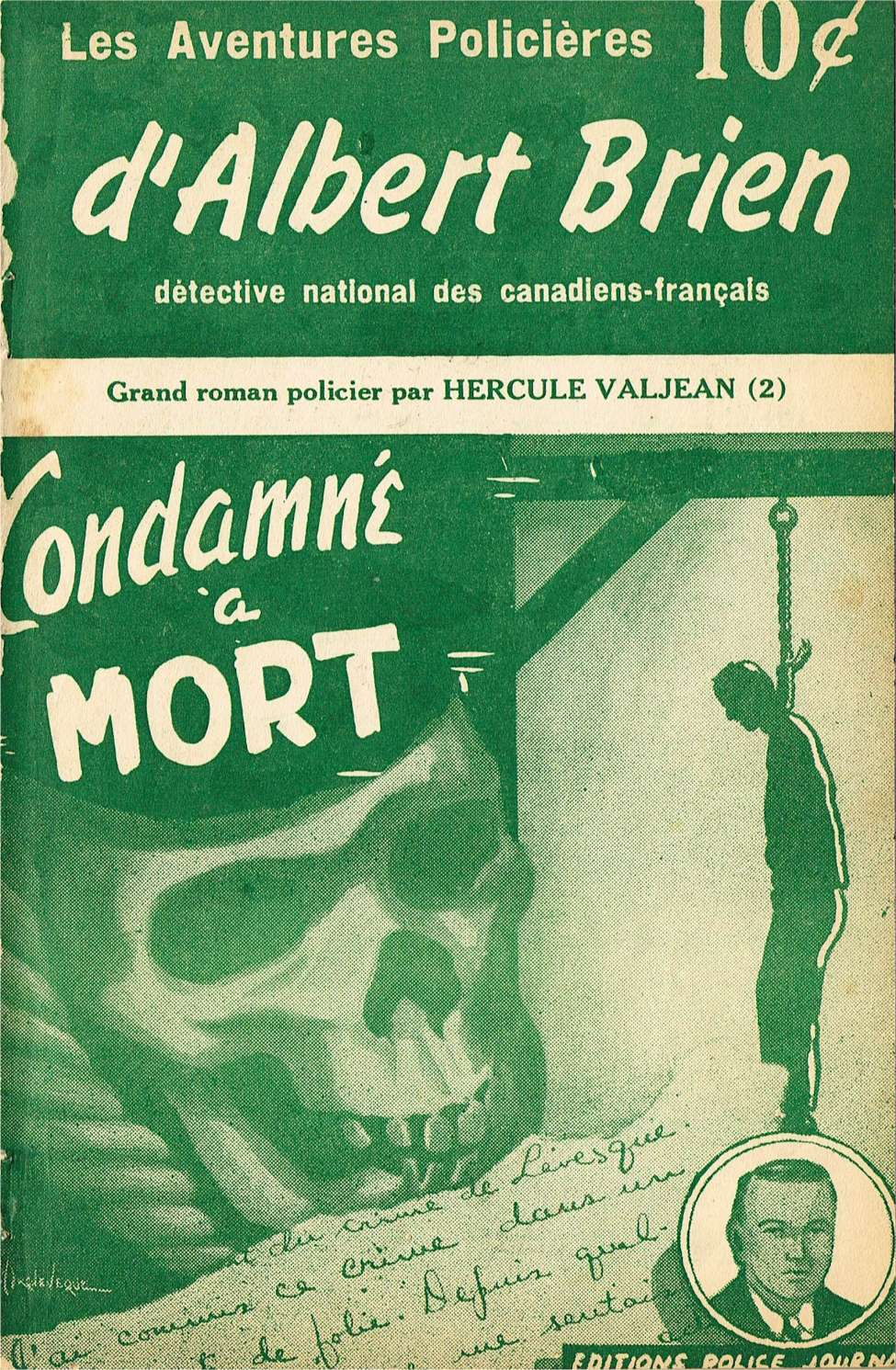 Comic Book Cover For Albert Brien v2 02 - Condamné à Mort