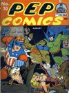 Cover For Pep Comics 30