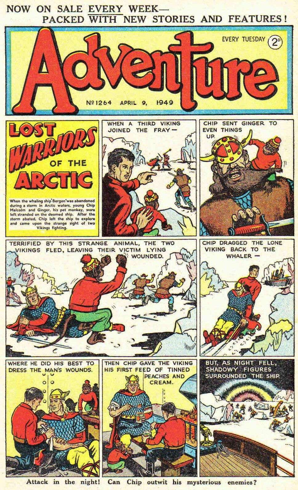 Comic Book Cover For Adventure #1264