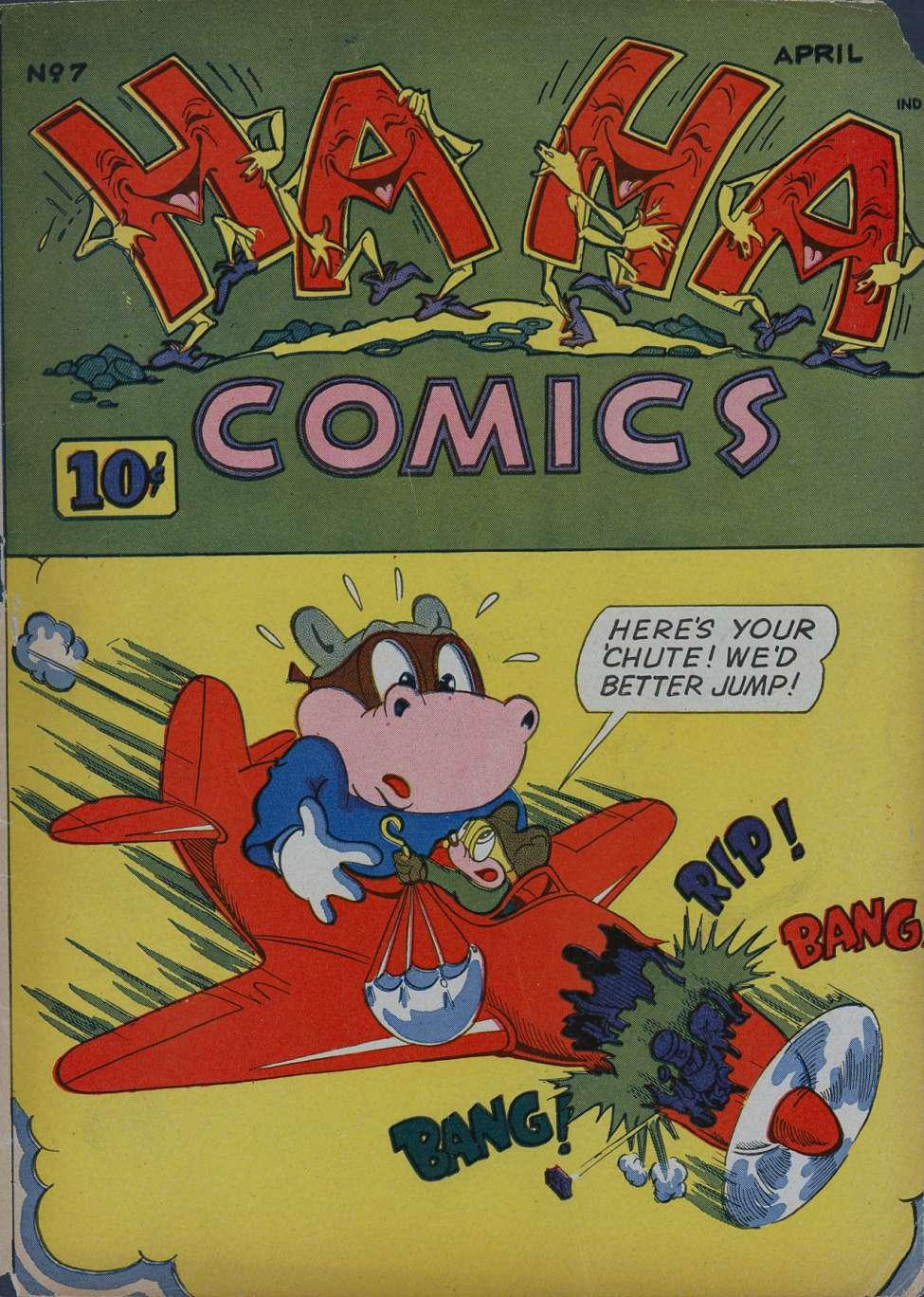 Comic Book Cover For Ha Ha Comics #7