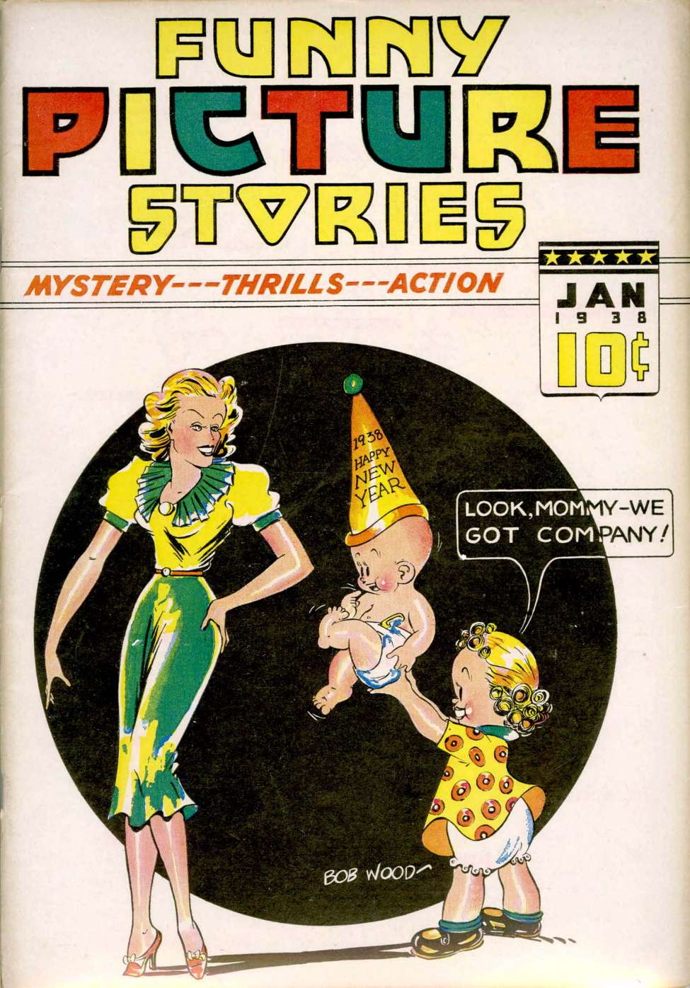 Comic Book Cover For Funny Picture Stories v2 #5
