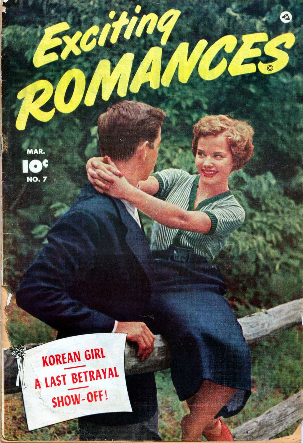 Comic Book Cover For Exciting Romances #7
