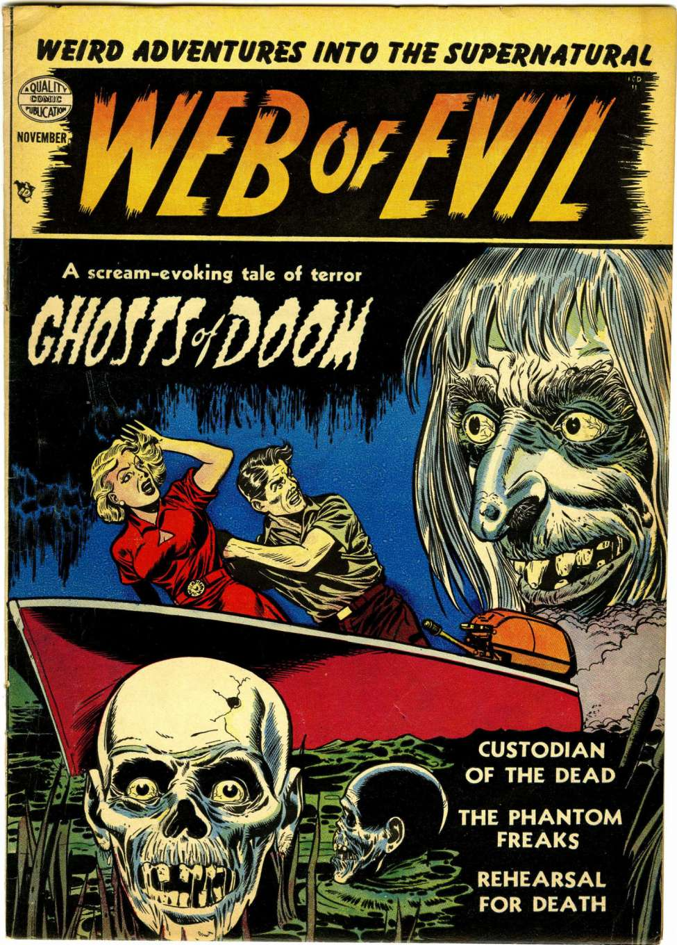 Comic Book Cover For Web of Evil #1
