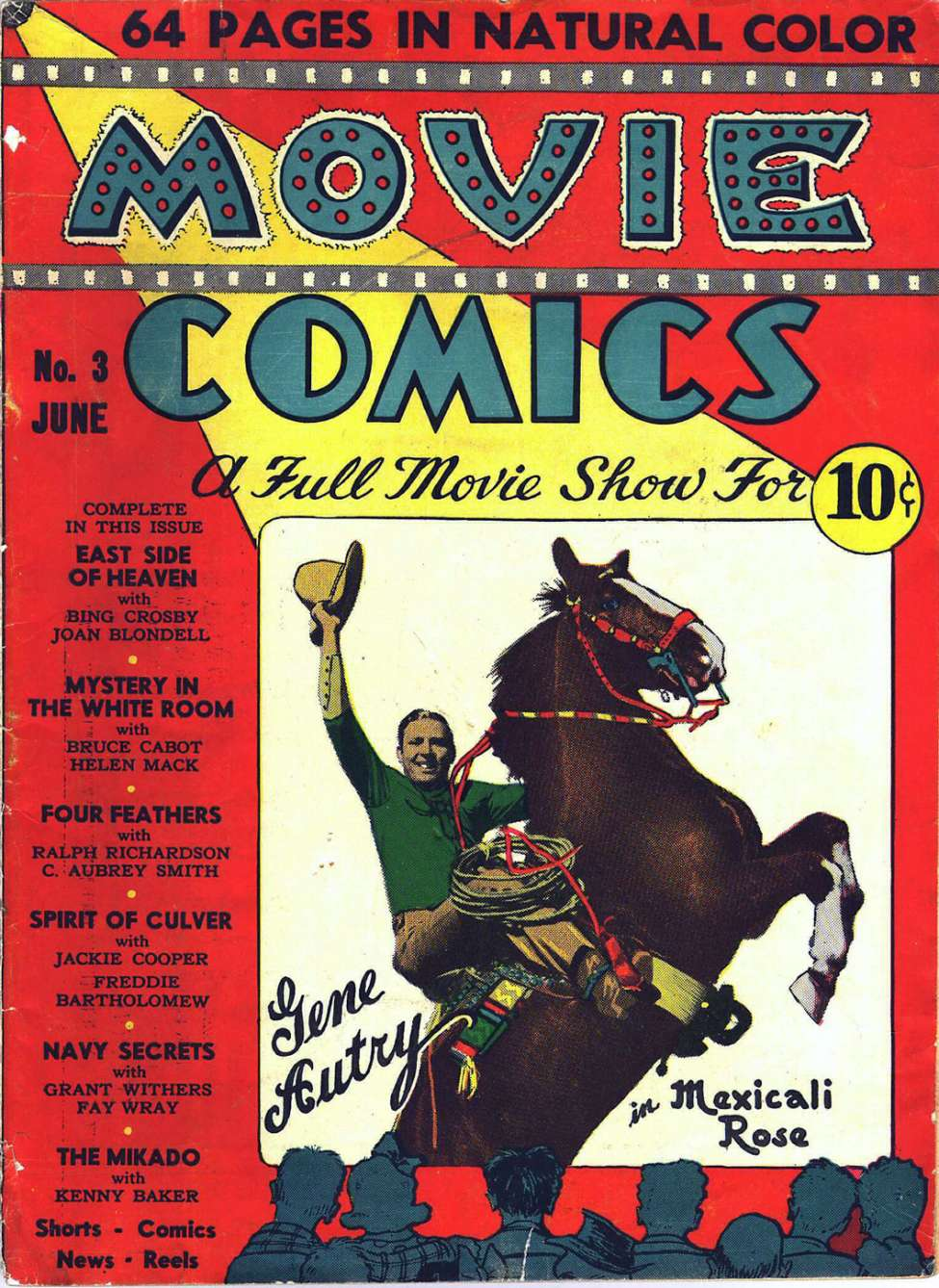 Comic Book Cover For Gene Autry In Movie Comics Magazine