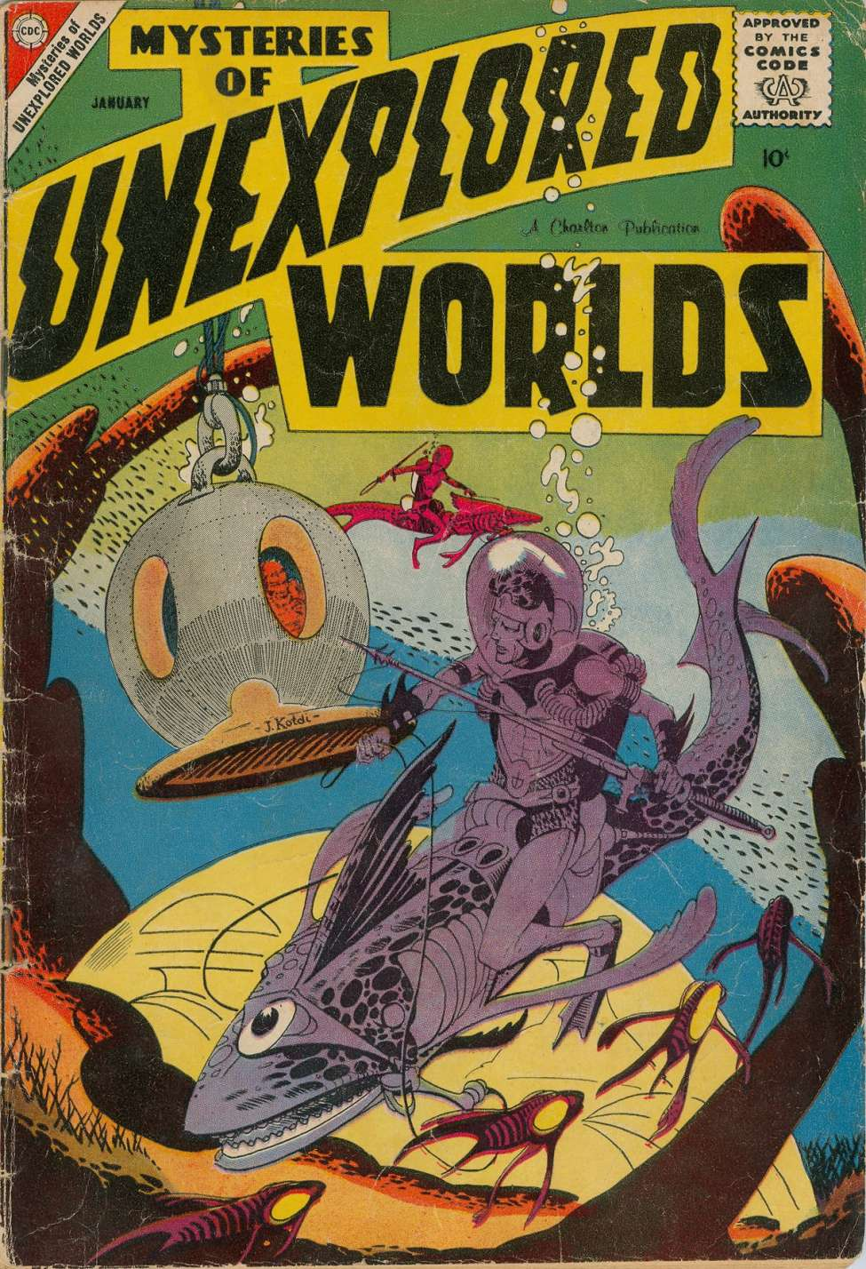Comic Book Cover For Mysteries of Unexplored Worlds #11