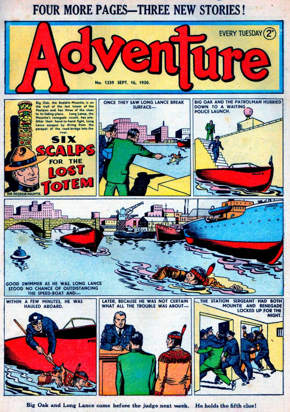 Comic Book Cover For Adventure #1339