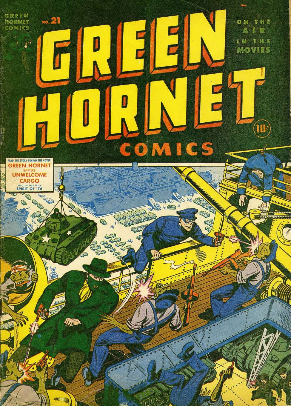 Comic Book Cover For Green Hornet Comics #21