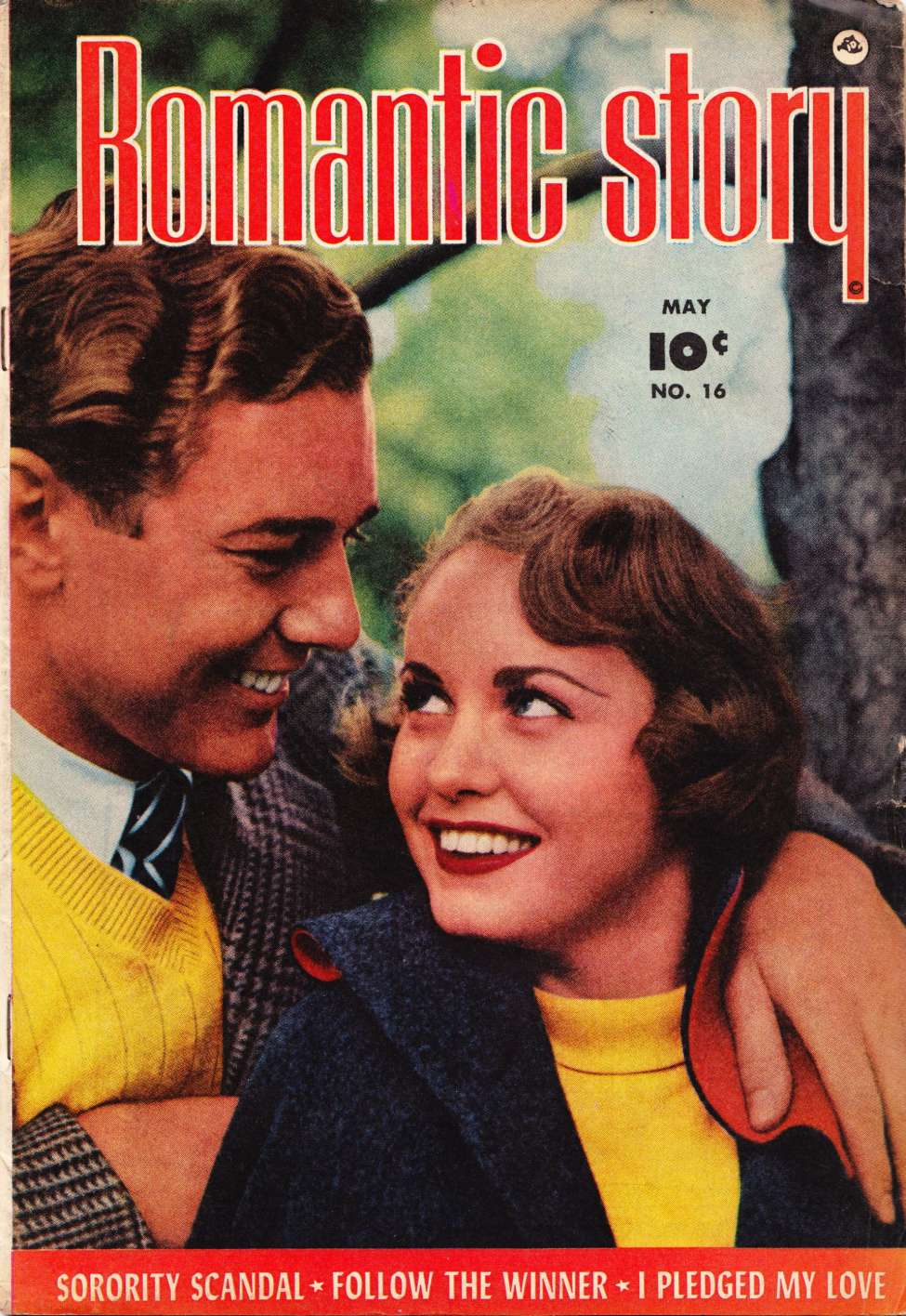 Comic Book Cover For Romantic Story #16