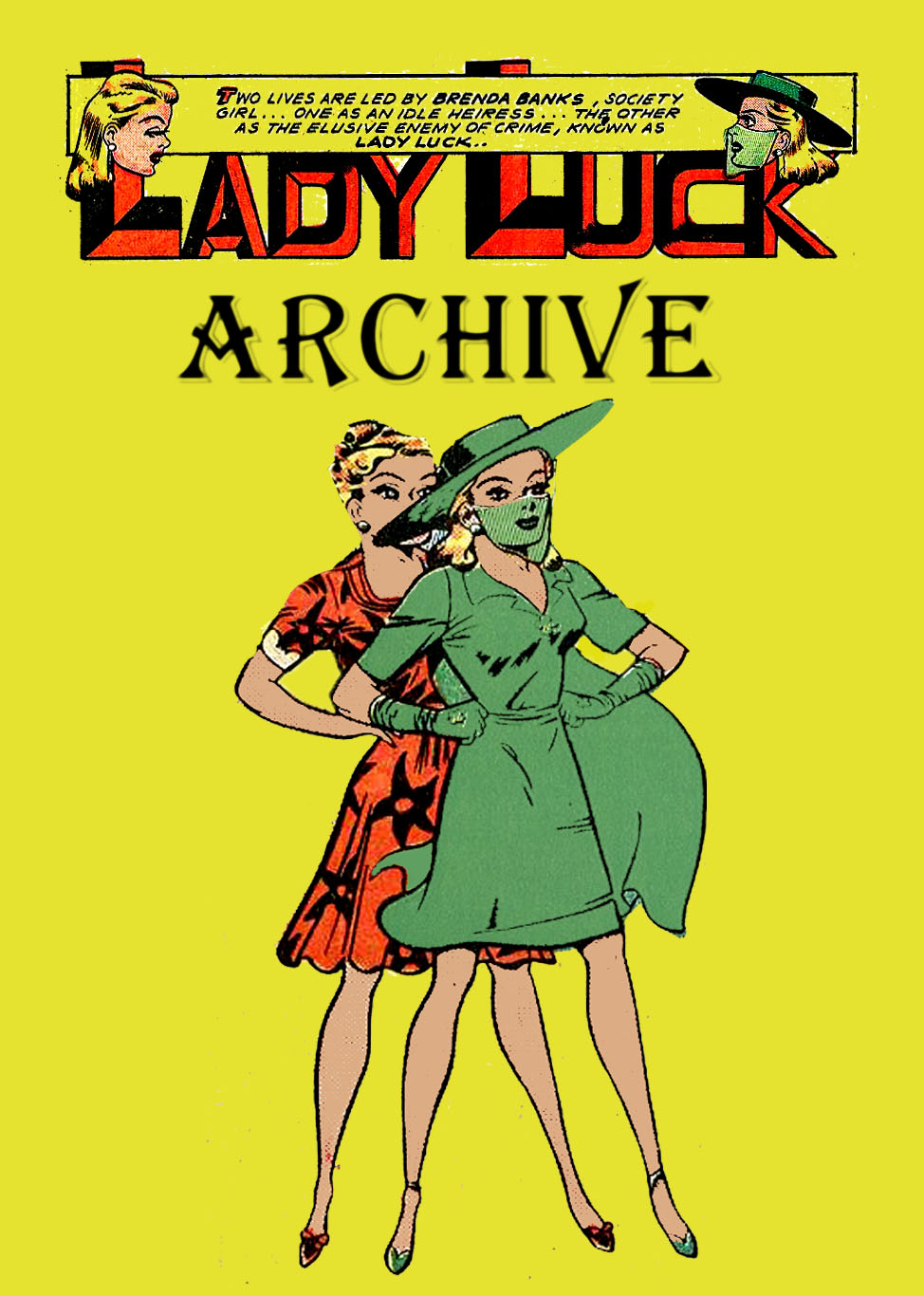 Comic Book Cover For Lady Luck Archive Pt1