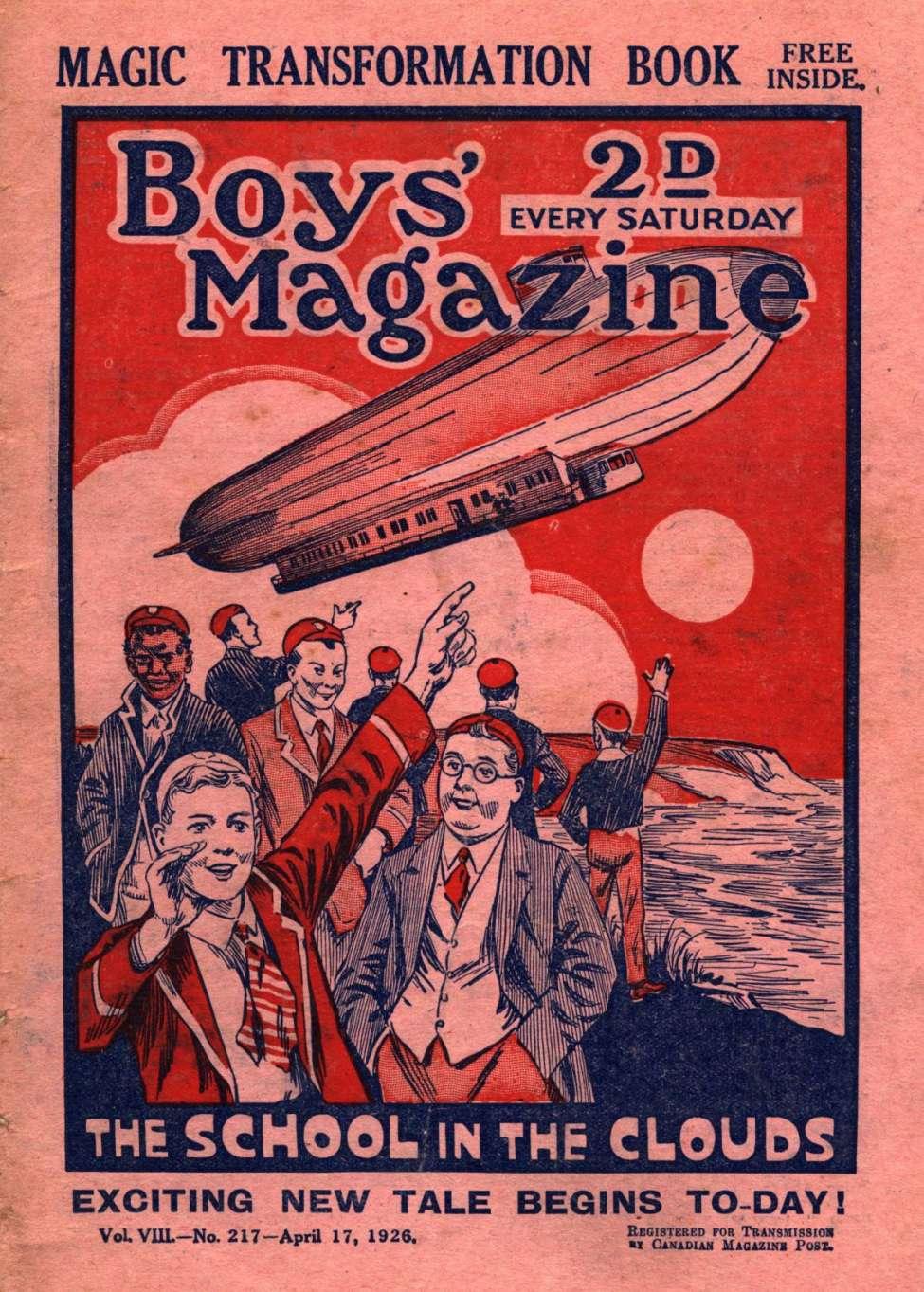 Comic Book Cover For Boys' Magazine 217
