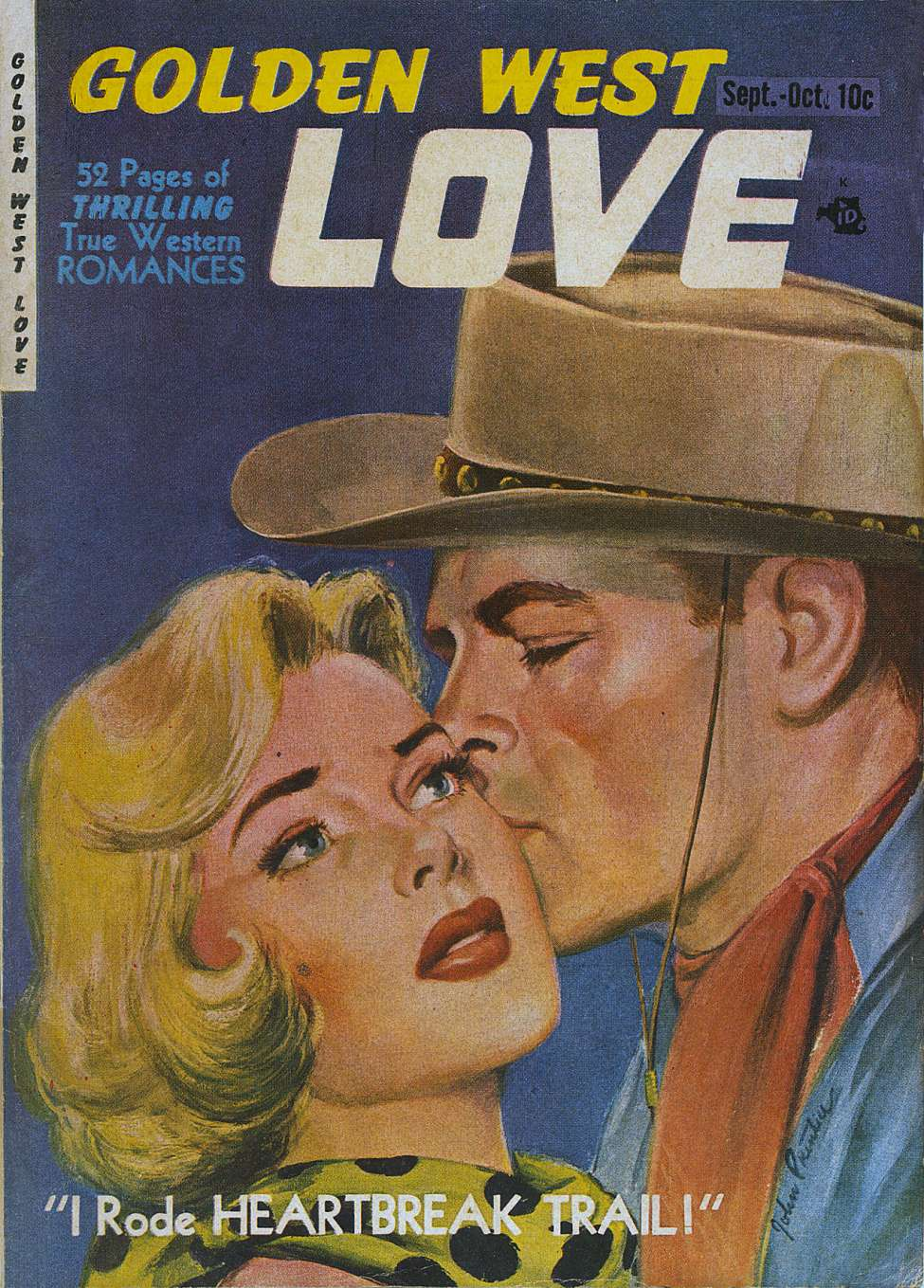 Comic Book Cover For Golden West Love #1
