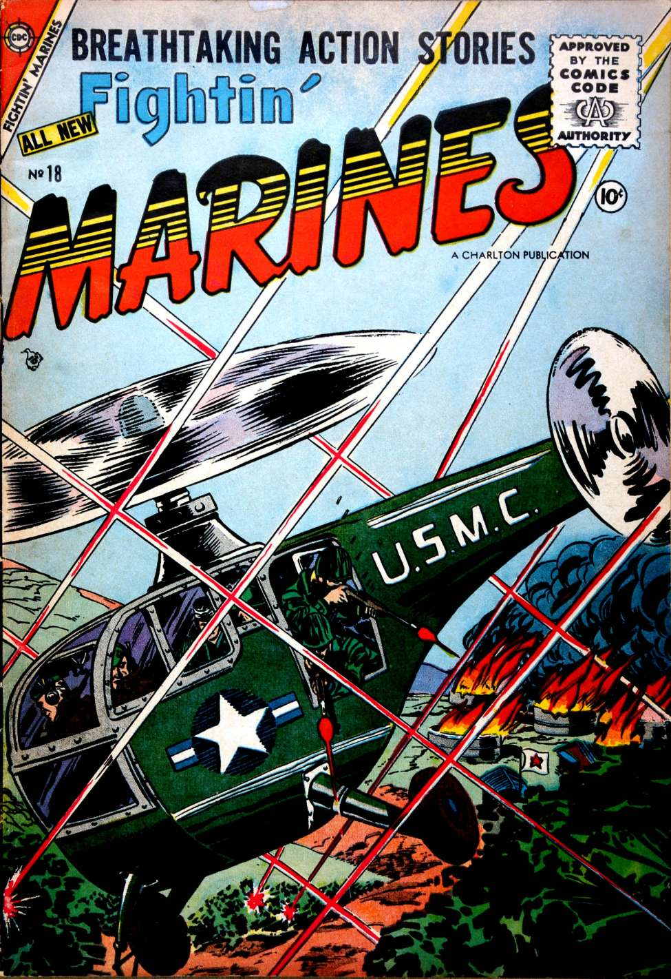 Comic Book Cover For Fightin' Marines #18