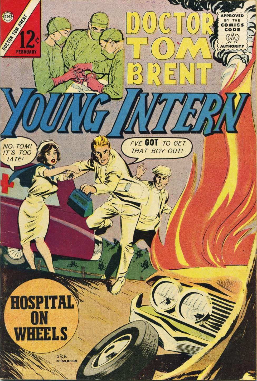 Comic Book Cover For Doctor Tom Brent, Young Intern 1