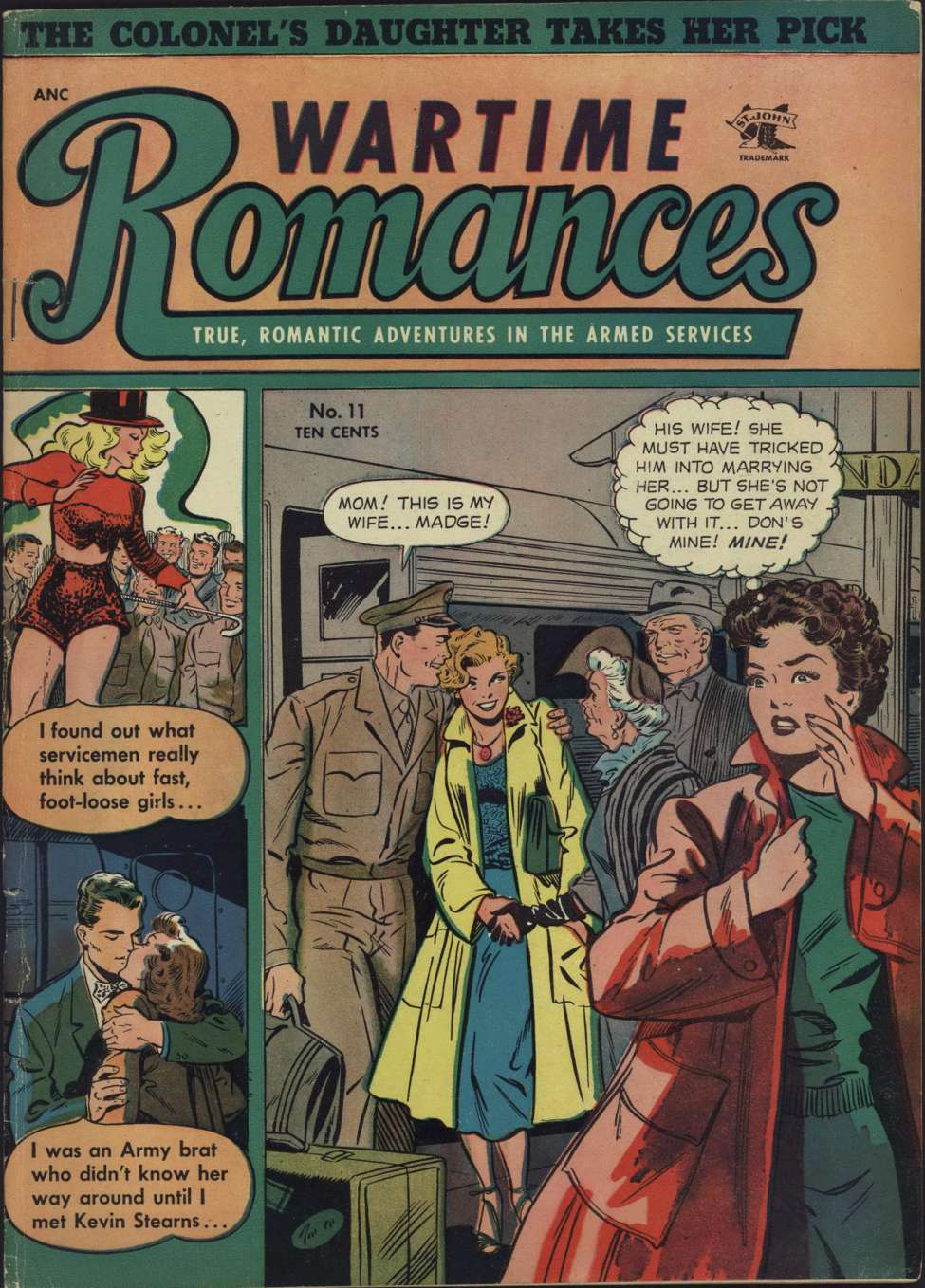 Comic Book Cover For Wartime Romances #11