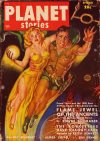 Cover For Planet Stories v4 6 Flame Jewel of the Ancients Edwin L. Graber