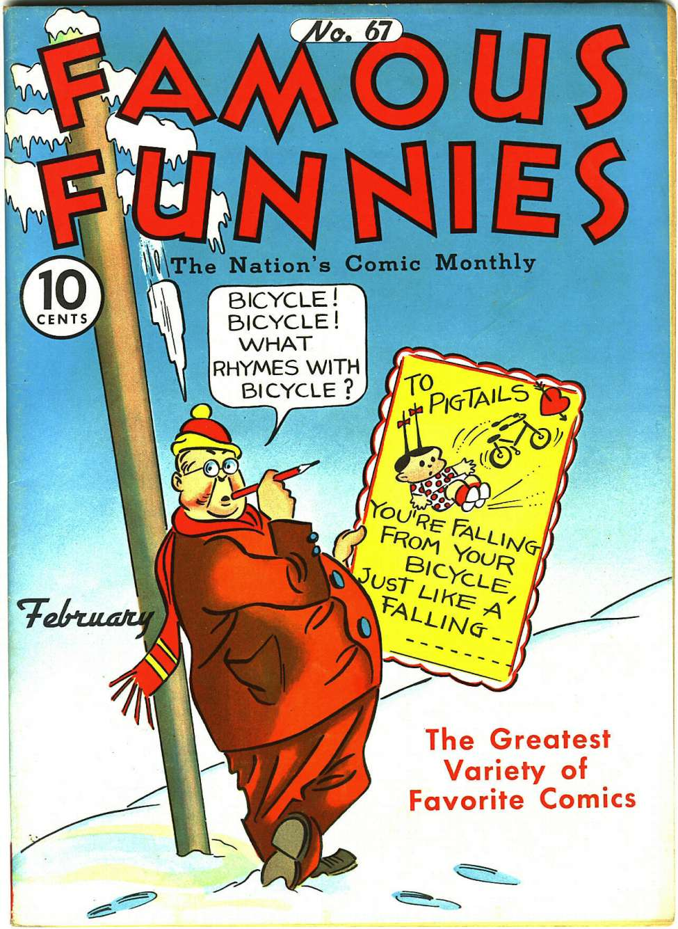 Comic Book Cover For Famous Funnies #67