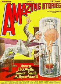 Large Thumbnail For Amazing Stories v02 08 - A Story of the Stone Age - H. G. Wells